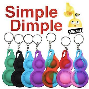 2 kpl Yksinkertaista hymykuoppaa, MINI Pop it Fidget Finger Lelu / Lelu- CE