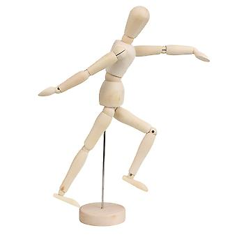 Artists Wooden Unisex Manikin Blockhead Jointed Mannequin Puppet 12 Inch