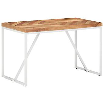 Dining Table 120x60x76 Cm Solid Acacia And Mango Wood