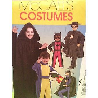 McCalls Schnittmuster 5952 0248 Kinder Jungen Zorro Racer Batman Kostüm Größe 7-14 UC