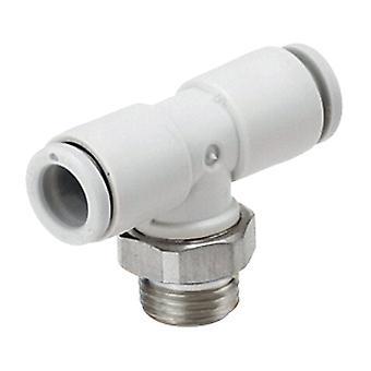 SMC pneumatische Tee Threaded-naar-Tube-Adapter, 1/4 In X 10 X 10 Mm