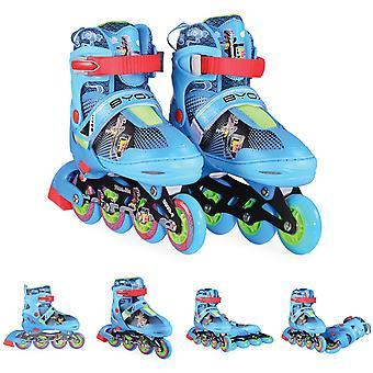 Byox Inliner Kinder Mask blau Größe M 34-37 verstellbar, PU, ABEC-7 Lager Bremse