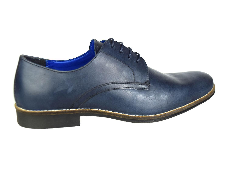 La paperasserie Shannon Navy Mens cuir chaussures de mariage formel
