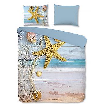 bed linen seastar 240 x 220 cm microfiber blue