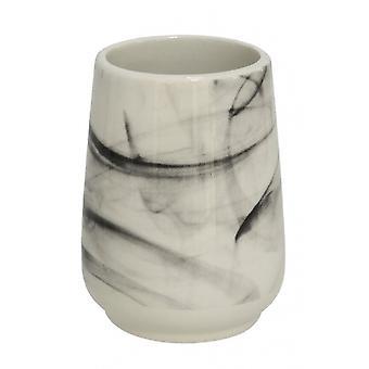 bathroom cup 8 x 10.5 cm ceramic white