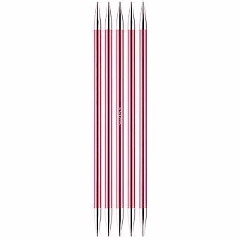 Knitpro Zing: Strickstifte: Doppel-Ended: Set von fünf: 15cm x 6.50mm
