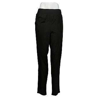 Chiunque pantaloni da donna maglia maglia foldover Jogger Nero A388558