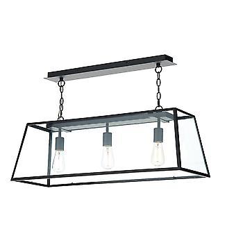 DAR ACADEMY Lige Bar Vedhæng Light Black, 3x E27