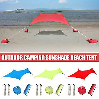 Beach Tent Beach Sunshade Lightweight Sun Shade Tent With Sandbag Anchors Comfortable For Parks Outdoor Camping