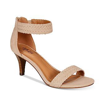 Style & Co Womens Pattyy punottu kaksiosainen mekko sandaalit