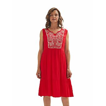 Shuuk Sleeveless Special Embroidered Lightweight & Breathable Dress for Women