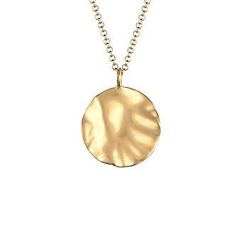 Elli Naisten kaulakoru, luonnollinen geometrinen muotoilu, matta, sterling hopea 925