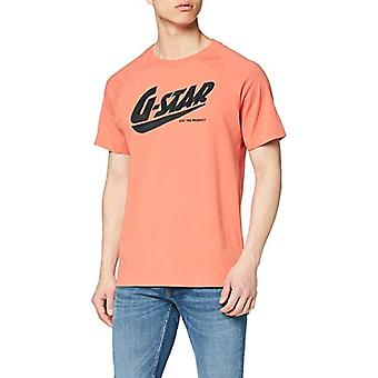 G-STAR RAW Fast Raglan Straight T-Shirt, Pink (Langoustino Pink A764-B250), S Man