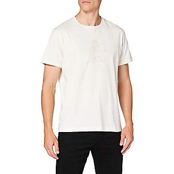 Hackett Hkt Pin Up T-Shirt, White (803off White 803), Medium (One Size: Large) Men
