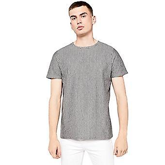 Amazon brand - find. Men's Vertical Striped T-Shirt, Grey, S, Label: S
