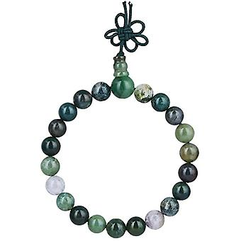 KYEYGWO 21 Mala bracelets with Chakra beads for men and women, unisex, with Reiki crystal stones, color: Indian Agate Ref. 0715444069345