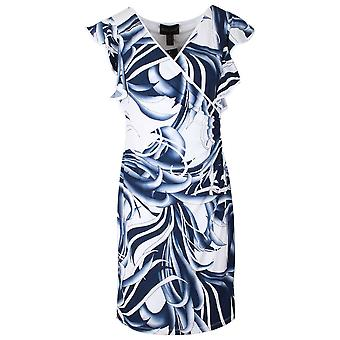 Frank Lyman Floral Crossover Capped Sleeve Dress