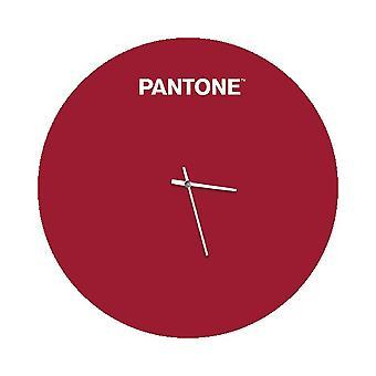 PANTONE Montre Sunrise Couleur Bordeaux, Blanc, en Métal L40xP0,15xA40 cm