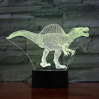 ديناصور جديد الجوراسي Spinosaurus 3d أدى ليلة ضوء غرفة نوم مصباح مصباح اللون تغيير ES8588