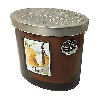 Heart & Home Ellipse Twin Wick Soy Wax Candle - French Vanilla 00276260201