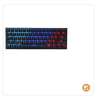 Gateron switchanne برو 2 61 مفاتيح لوحة المفاتيح الميكانيكية الألعاب 60٪ nkro بلوتوث 4.0 نوع rgb لوحة المفاتيح