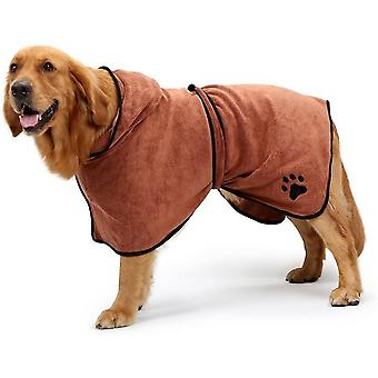 Xlarge. back length 29 brown dog bathrobe soft super absorbent luxuriously microfiber drying towel dt6674