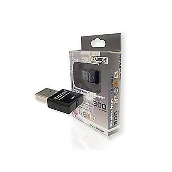 Scheda USB NANO ADDON Wireless da 300 Mbps (NWU285v3)