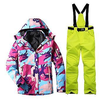 女性スノーボードジャケットパンツセット