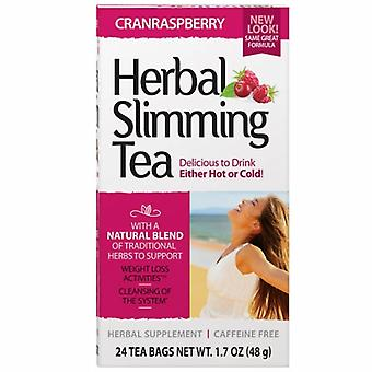 21st Century Herbal Slimming Tea, Cranraspberry 24 Bags