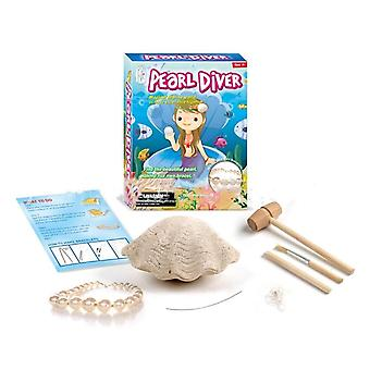 Children's Puzzle Diy Excavation Shell Pearl Bracelet