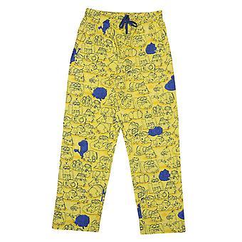 ミニオンズメンズはパジャマボトムに直面しています