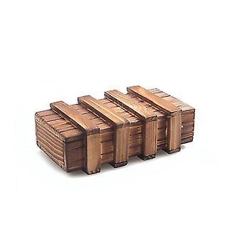 ny stor vintage tre puslespill boks hemmelig skuff magisk rom hjerne teaser sm62755