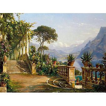 Lodge on Lake Como,Carl Frederik Aagaard