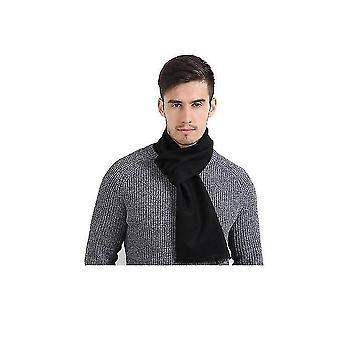 Winter Scarf Premium Cashmere Feel Unique Design Selection (CZARNY)