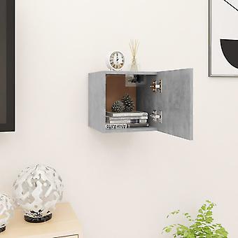 vidaXL armoire de télévision en béton gris 30,5x30x30 cm