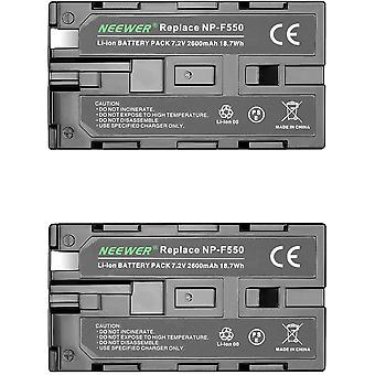 (2Pack)2600mAh Sony NP-F550/570/530 Ersatzakku für Sony HandyCams, Nanguang CN-160,