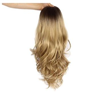 Long Wavy Curly Gold Wig