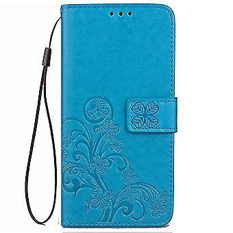 Sony Xperia XA2 Ultra Lucky Gras Ledertasche - blau
