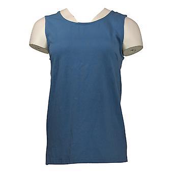 Joan Rivers Classics Collection Women's Top Wardrobe Tank Blue A295141