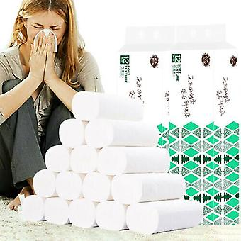 12 Rolls 4 Ply White Soft Quilted Luxury Bathroom Toilet Paper Household Kitchen
