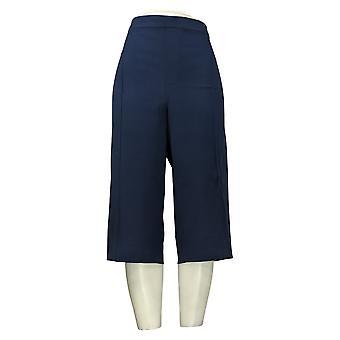 Isaac Mizrahi En direct! Pantalon plus femme Poussoirs à pédales Pintucks Bleu A377472