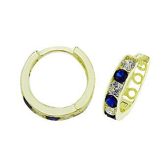 HS Johnson HSJ-ER033S Women's 9ct Gold CZ Hinged Earrings