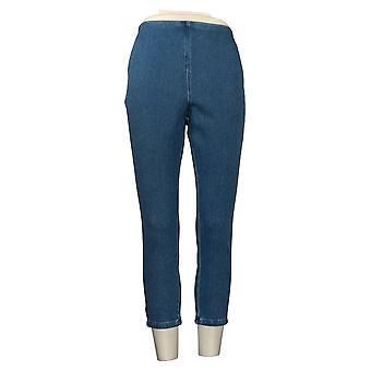 Belle Por Kim Gravel Jeans de mujer Hollywood Cintura Crop Blue A373936