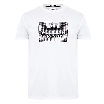 Weekend Offender 2112 Shevchenko Logo Check Print Halvärmad T-shirt - Vit