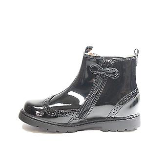 Startrite Chelsea Black Patent Leather Childrens Chelsea Boots