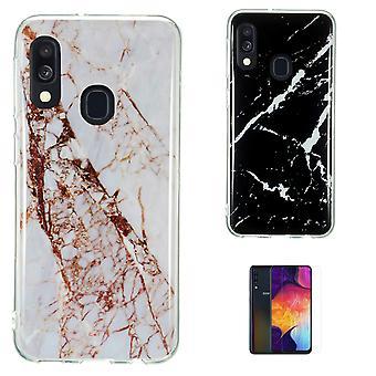 Samsung Galaxy A40 - Shell / Bescherming / Marble