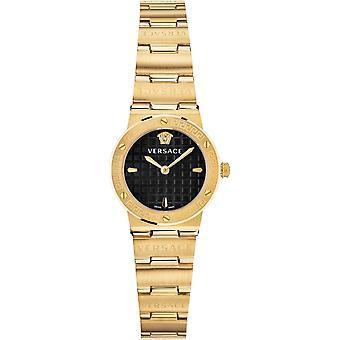 Versace VEZ100521 女性ゴールドトーングレコロゴスチールブレスレット腕時計