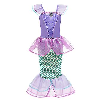 Little Girls Mermaid Princess Costume For Girls Dress Up Party