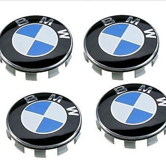 4 x wiel centrum naaf cover Bmw classic blauw logo diameter 68 mm nieuwe 36136783536