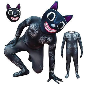 ליל כל הקדושים ילד קריקטורה חתול קוספליי תלבושות מסיבה שמלה מפוארת סט